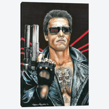 Terminator Canvas Print #IIK64} by Inked Ikons Canvas Art