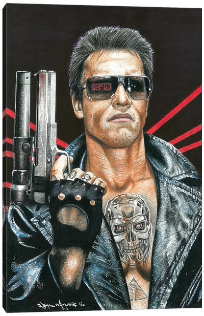 Terminator Canvas Art Print