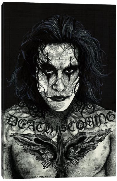The Crow Canvas Art Print