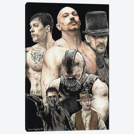 Tom Hardy Canvas Print #IIK66} by Inked Ikons Canvas Art