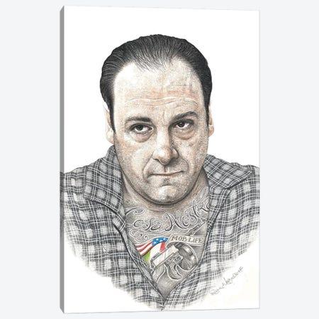Tony Soprano Canvas Print #IIK67} by Inked Ikons Canvas Wall Art