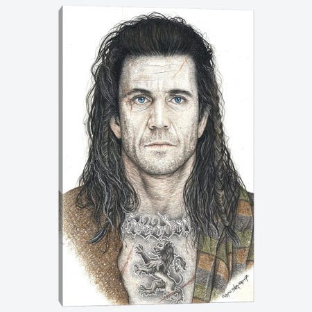 Braveheart Canvas Print #IIK6} by Inked Ikons Canvas Art