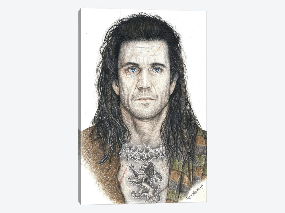 Braveheart by Inked Ikons 1-piece Canvas Art Print