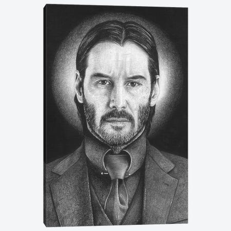 John Wick Canvas Print #IIK70} by Inked Ikons Canvas Artwork