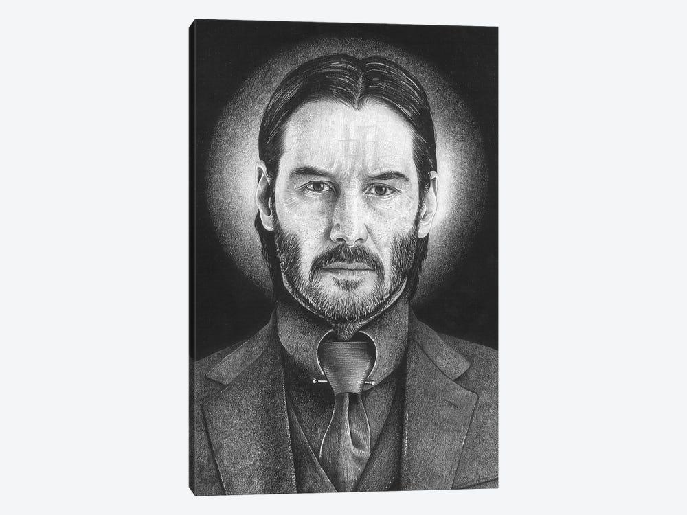 John Wick by Inked Ikons 1-piece Canvas Wall Art