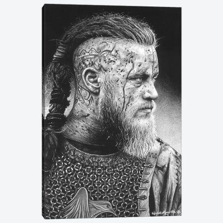 Ragnar Canvas Print #IIK79} by Inked Ikons Canvas Wall Art