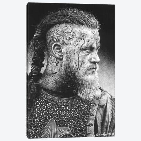 Ragnar Canvas Print #IIK79} by Inked Ikons Canvas Wall Art