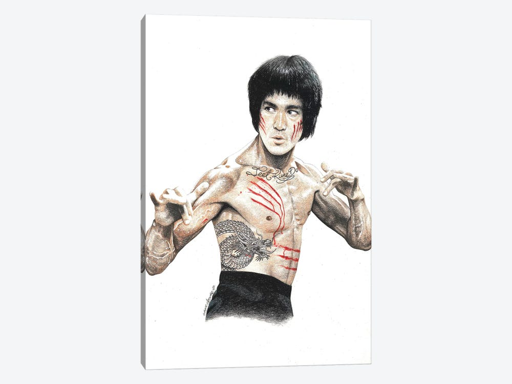 Bruce Lee by Inked Ikons 1-piece Canvas Artwork