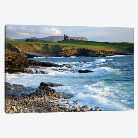 Classiebawn Castle, Mullaghmore, Co Sligo, Ireland, 19Th Century Castle With Ben Bulben In The Distance 3-Piece Canvas #IIM12} by Irish Image Collection Canvas Art