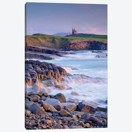 Classiebawn Castle, Mullaghmore, Co Sligo, Ireland, 19Th Century Castle With Ben Bulben In The Distance 3-Piece Canvas #IIM13} by Irish Image Collection Canvas Art
