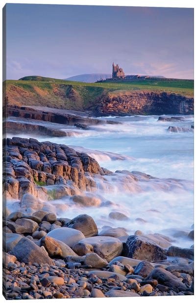 Classiebawn Castle, Mullaghmore, Co Sligo, Ireland, 19Th Century Castle With Ben Bulben In The Distance Canvas Art Print