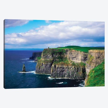 Cliffs Of Moher, Co Clare, Ireland Canvas Print #IIM15} by Irish Image Collection Art Print