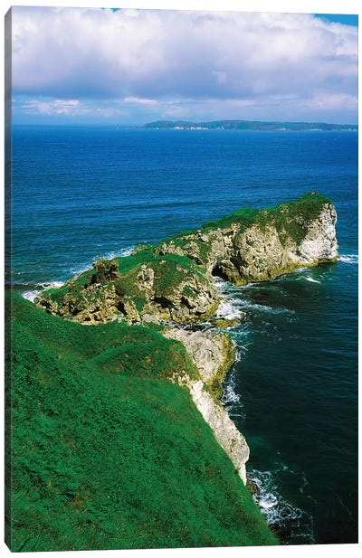 Co Antrim, Kenbane Castle, Rathlin Island Background Canvas Art Print