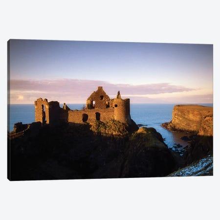 Co Antrim, Northern Ireland, Dunluce Castle Canvas Print #IIM18} by Irish Image Collection Canvas Art