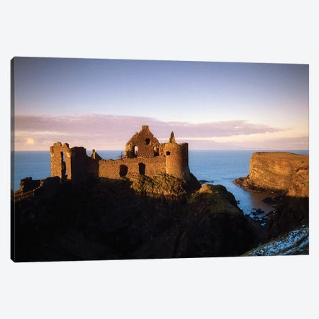Co Antrim, Northern Ireland, Dunluce Castle Canvas Print #IIM18} by Irish Image Collection Canvas Art