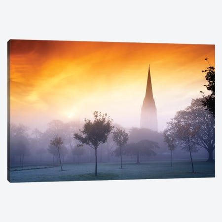 Co Derry, St Eugenes Cathedral From Brooke Park Canvas Print #IIM20} by Irish Image Collection Canvas Art Print