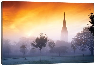 Co Derry, St Eugenes Cathedral From Brooke Park Canvas Art Print