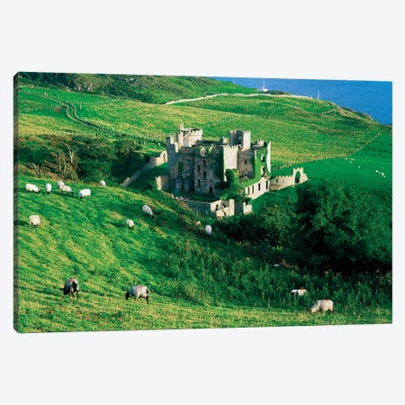 Co Galway, Clifden Castle, Canvas Print #IIM22} by Irish Image Collection Art Print