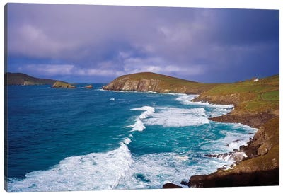 Co Kerry, Dingle Peninsula, Dunmore Head, And Blasket Islands Canvas Art Print