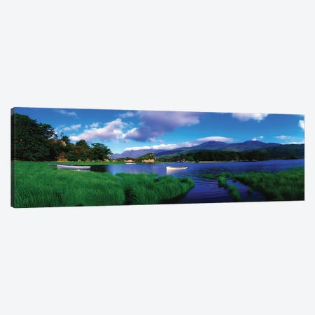 Co Kerry, Killarney-Upr Lake, Carrantuohill & Purple Mtns Canvas Print #IIM26} by Irish Image Collection Canvas Artwork