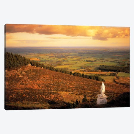 Co Tipperary, Statue Of The Madonna, The Devils Bit Templemore Canvas Print #IIM28} by Irish Image Collection Art Print