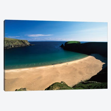 An Tra Ban Beach Near Malin Beg, County Donegal, Ireland Canvas Print #IIM2} by Irish Image Collection Canvas Art Print