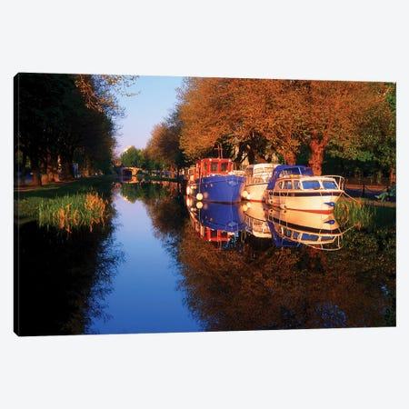 Dublin, Grand Canal, Canvas Print #IIM35} by Irish Image Collection Canvas Art Print