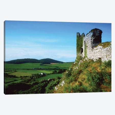 Dunamase Castle, County Laois, Ireland, Hilltop Castle Ruins Canvas Print #IIM36} by Irish Image Collection Art Print