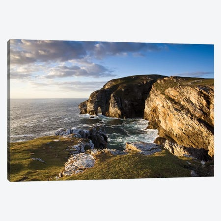 Dunfanaghy, County Donegal, Ireland; Coastal Sea Stack And Seascape Canvas Print #IIM37} by Irish Image Collection Canvas Print