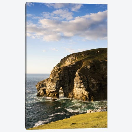 Dunfanaghy, County Donegal, Ireland; Coastal Sea Stack And Seascape Canvas Print #IIM38} by Irish Image Collection Canvas Artwork