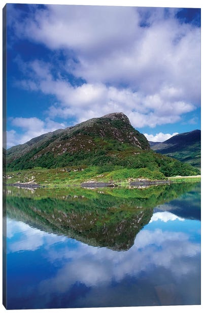 Eagle's Nest, Killarney National Park, County Kerry, Ireland; Reflection In Mountain Lake Canvas Art Print
