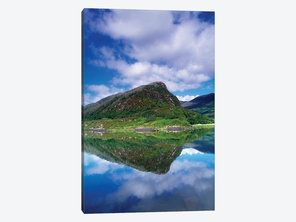 Eagle's Nest, Killarney National Park, County Kerry, Ireland; Reflection In Mountain Lake by Irish Image Collection 1-piece Canvas Print