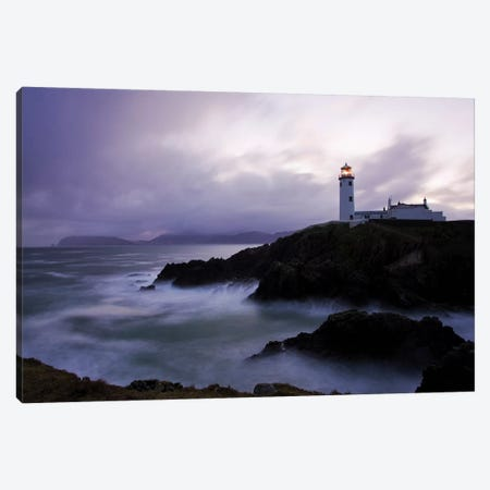 Fanad Head, County Donegal, Ireland; Lighthouse And Seascape Canvas Print #IIM43} by Irish Image Collection Canvas Print