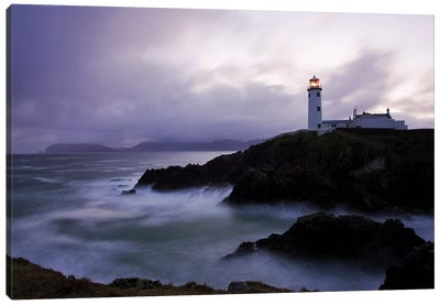 Fanad Head, County Donegal, Ireland; Lighthouse And Seascape Canvas Art Print