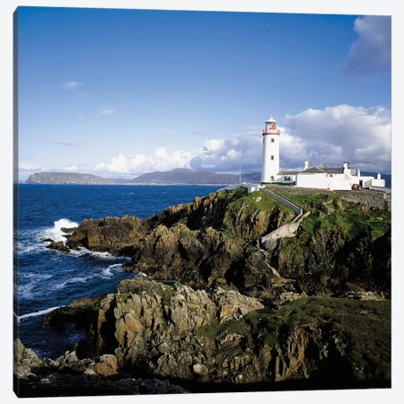 Fanad Lighthouse, Co Donegal, Ireland, 19Th Century Lighthouse Canvas Print #IIM44} by Irish Image Collection Canvas Wall Art