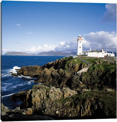 Fanad Lighthouse, Co Donegal, Ireland, 19Th Century Lighthouse Canvas Art Print