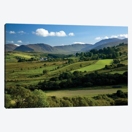 Finn Valley, Co Donegal, Ireland, View Of Verdant Landscape Canvas Print #IIM45} by Irish Image Collection Canvas Art