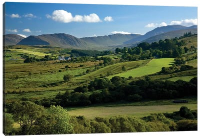 Finn Valley, Co Donegal, Ireland, View Of Verdant Landscape Canvas Art Print