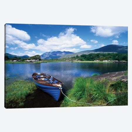 Fishing Boat On Upper Lake, Killarney National Park, County Kerry, Ireland Canvas Print #IIM46} by Irish Image Collection Canvas Artwork