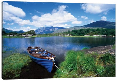 Fishing Boat On Upper Lake, Killarney National Park, County Kerry, Ireland Canvas Art Print