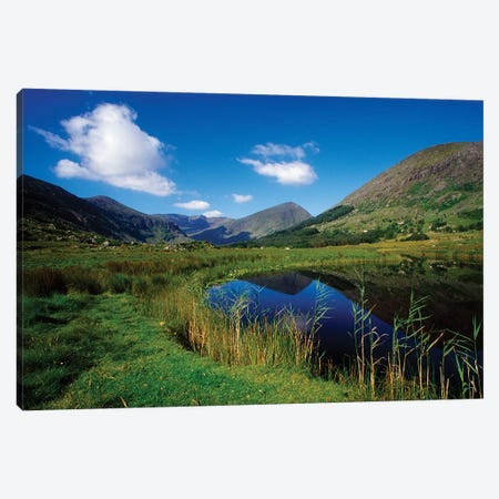 Gearhameen River In Black Valley, Killarney National Park, County Kerry, Ireland; Riverbank Canvas Print #IIM49} by Irish Image Collection Canvas Art Print