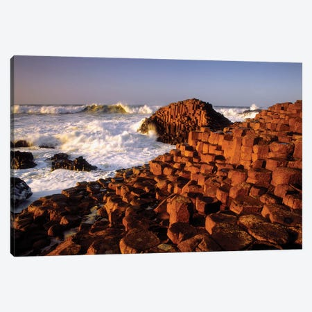 Giant's Causeway, County Antrim, Ireland 3-Piece Canvas #IIM50} by Irish Image Collection Canvas Artwork