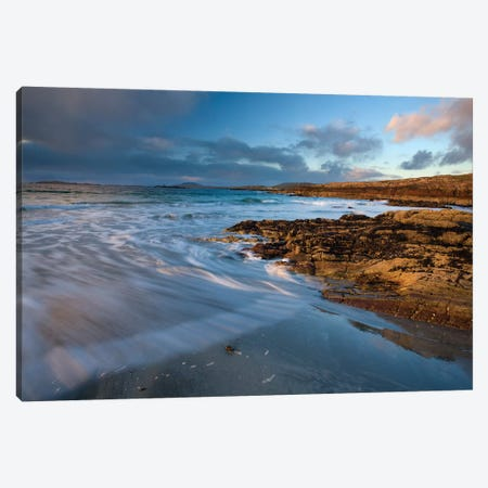 Glassillaun Beach, Co Galway, Ireland, Rock Strata Along Glassillaun Beach Canvas Print #IIM51} by Irish Image Collection Canvas Wall Art