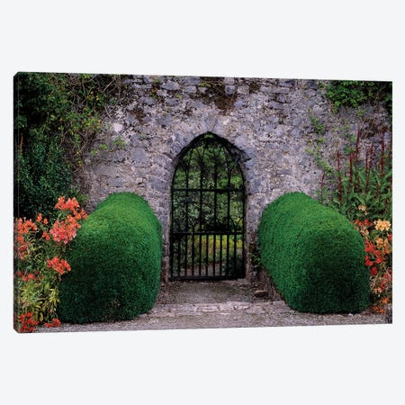 Gothic Entrance Gate, Walled Garden, Ardsallagh, Co Tipperary, Ireland Canvas Print #IIM53} by Irish Image Collection Canvas Artwork