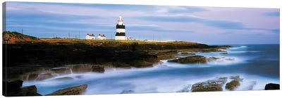Hook Head Lighthouse, Co Wexford, Ireland, Lighthouse On The Atlantic Canvas Art Print