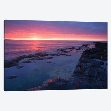 Killala Bay, Co Sligo, Ireland, Bay At Sunset Canvas Print #IIM59} by Irish Image Collection Canvas Wall Art