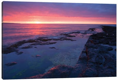 Killala Bay, Co Sligo, Ireland, Bay At Sunset Canvas Art Print