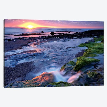 Killala Bay, Co Sligo, Ireland, Sunset Over Water Canvas Print #IIM60} by Irish Image Collection Canvas Art Print