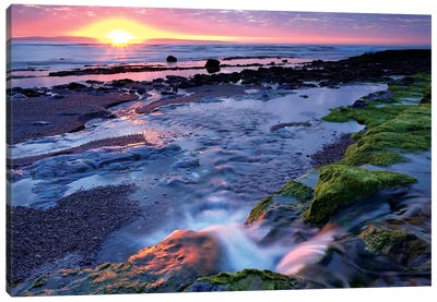 Killala Bay, Co Sligo, Ireland, Sunset Over Water Canvas Art Print