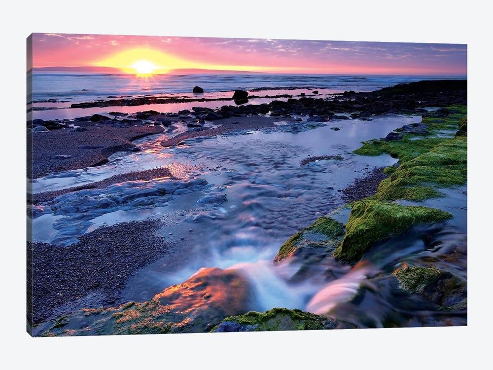 Killala Bay, Co Sligo, Ireland, Sunset Over Water by Irish Image Collection 1-piece Canvas Print